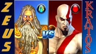 Kratos Vs Zeus God Of War 3 + PlayStation All Stars