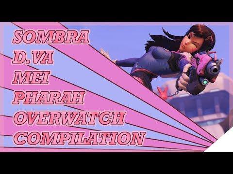 Overwatch Hero Compilation [Sombra, D.Va, Mei, Pharah]
