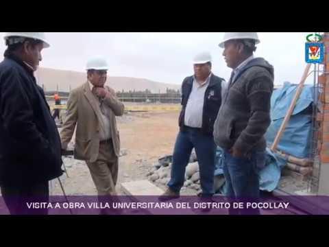 VISITA A OBRA VILLA UNIVERSITARIA DEL DISTRITO DE POCOLLAY