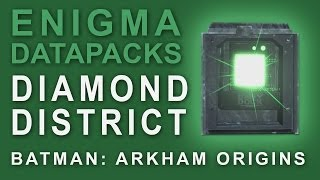Batman Arkham Origins: Enigma Datapacks Diamond District