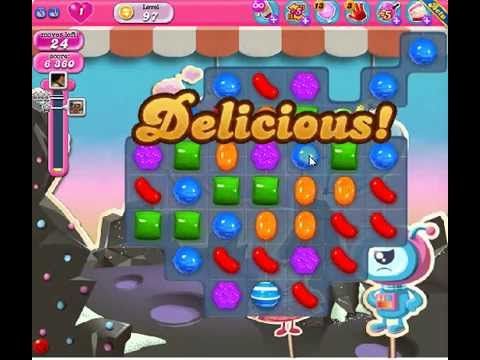 How to beat Candy Crush Saga Level 97 - 1 Stars - No Boosters - 106