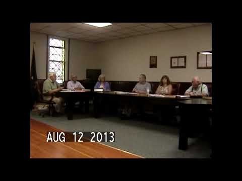 Chazy Town Board Meeting 8-12-13
