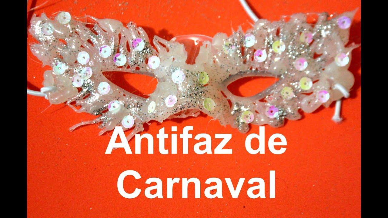 C mo hacer una mascara o antifaz f cil de carnaval youtube - Como hacer una mascara ...