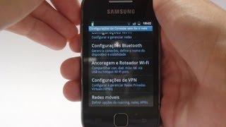 Como Usar Seu Android Como Roteador Wi-Fi Galaxy Y