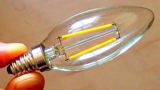 Ebay $1.50 Filament LED lightbulb teardown (2W)