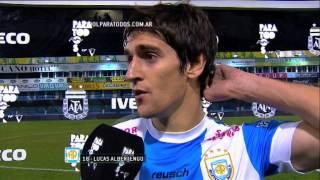 """Albertengo: """"Fuimos justos ganadores"""". Rafaela 2 - Lanús 1. Fecha 2. Primera División 2014. FPT"""
