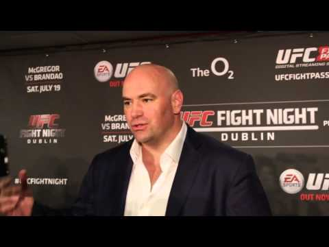 UFC Dublin: Post Fight Media Scrum With Dana White