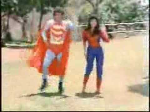 "Indian Superman, Lookie Here: Another Indian Superman Song, from the movie, ""Dariya Dil"" starring Govinda, And watch out for the girl dressed like Spider Woman"