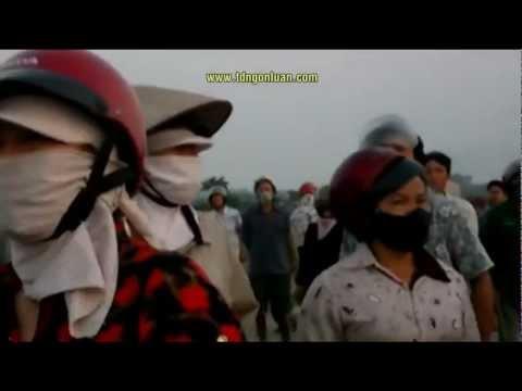 Nông dân Hưng Yên chống trả quyết liệt bọn Cộng sản Cướp Đất 24-4-2012