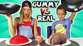 ALL GUMMY vs REAL IN ONE VIDEO!!!!!!