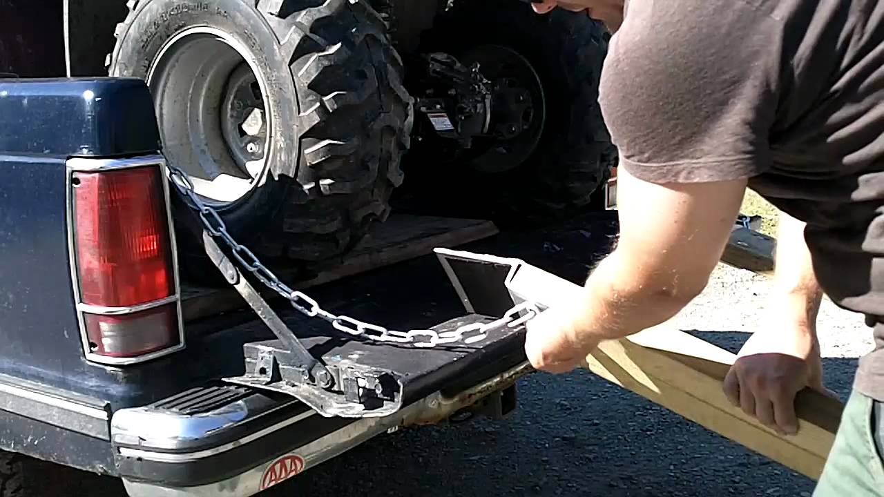 Diy Atv Lawnmwer Loading Ramps Youtube