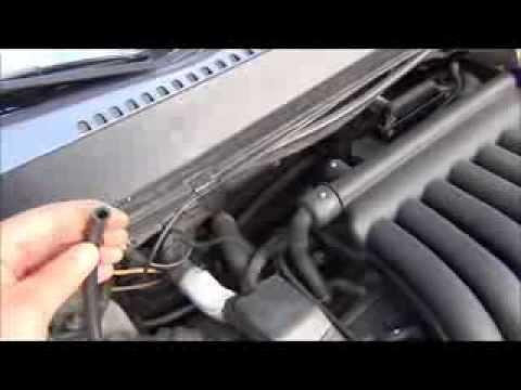 Taurus Windshield Washer Hose Repair - YouTube