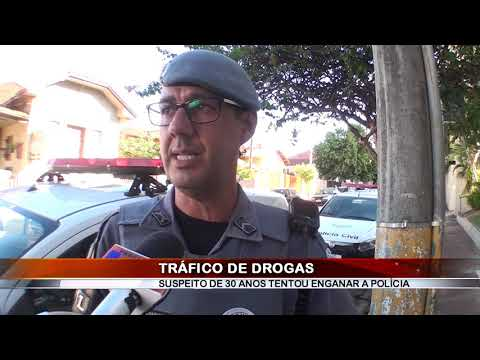 24/04/2019 - Indivíduo é preso por tráfico de drogas no Bairro Santa Izabel em Barretos