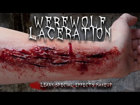 Special Effects Makeup Tutorial: Werewolf Laceration.