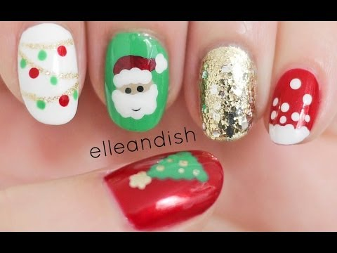 Christmas Nails (Freehand)