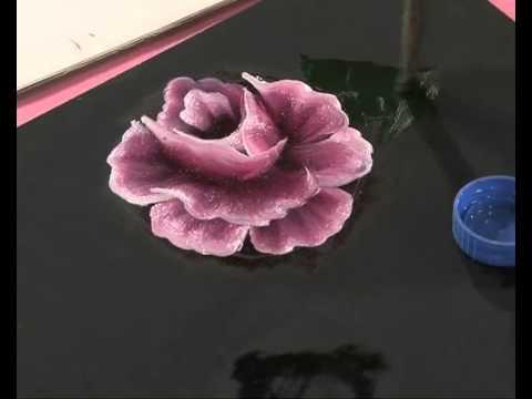 Pintar rosas y hojas - Pinceladas - Silvia Mongelos