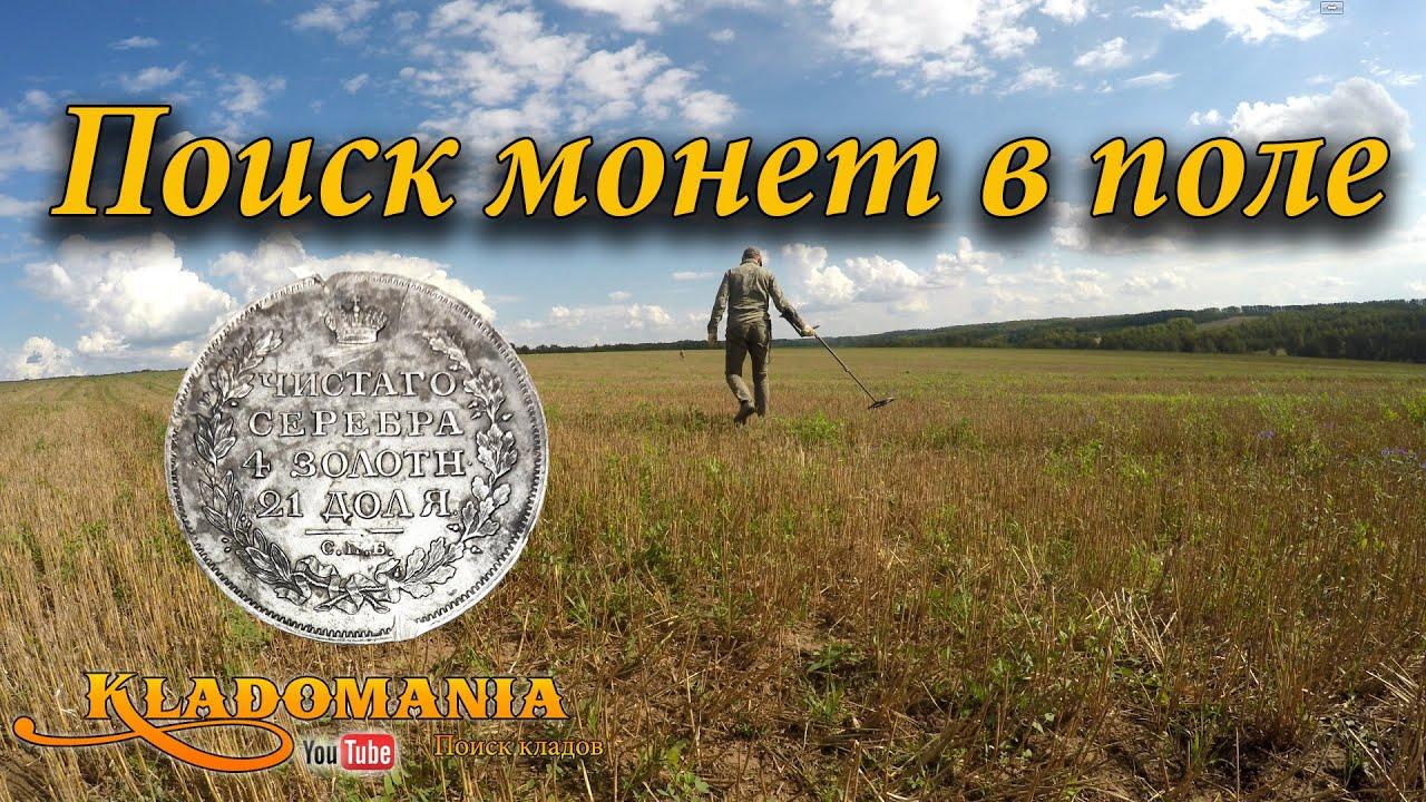 Поиск монет в поле. вот так находка! ценная находка с металл.