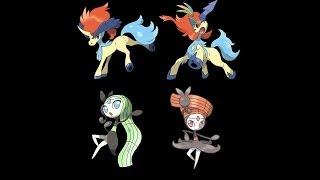 Pokémon X & Y Comment Changer La Forme De Meloetta & Keldeo