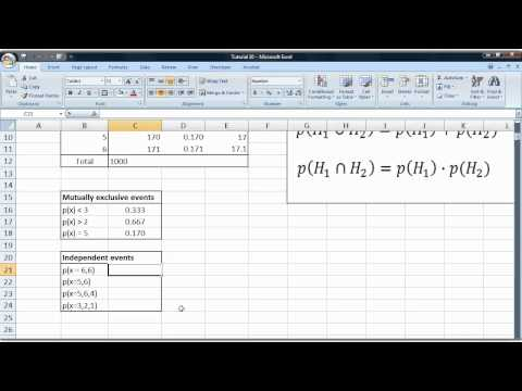 Basic statistics tutorial 33 Calculating probabilities