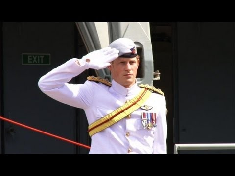 Prince Harry reviews global armada in Sydney