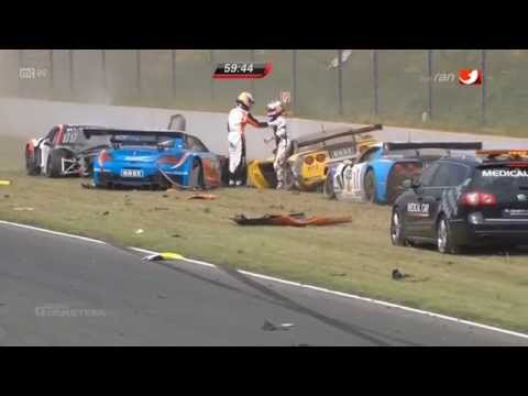 Huge Start Crash @ 2014 ADAC GT Masters Oschersleben Race 2