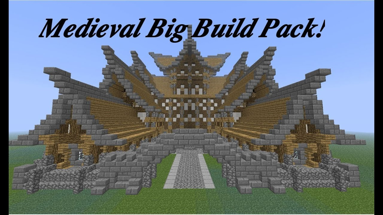 Minecraft Medieval Big Build Pack PMC Download YouTube