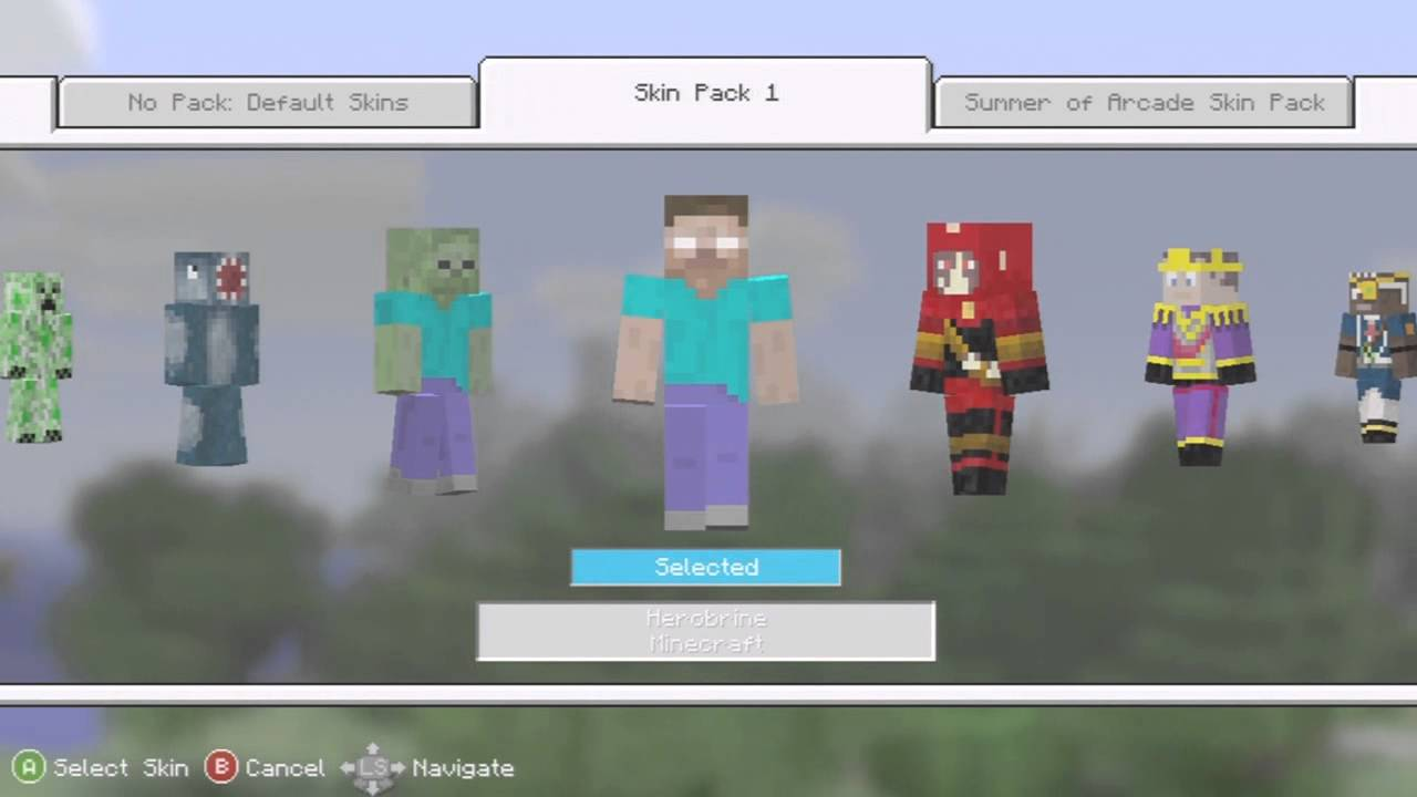 How to get Free MInecraft Skins for Xbox 360 - YouTube