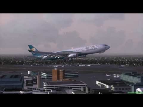 OMAN AIR A330-300 Take Off London Heathrow (LHR)