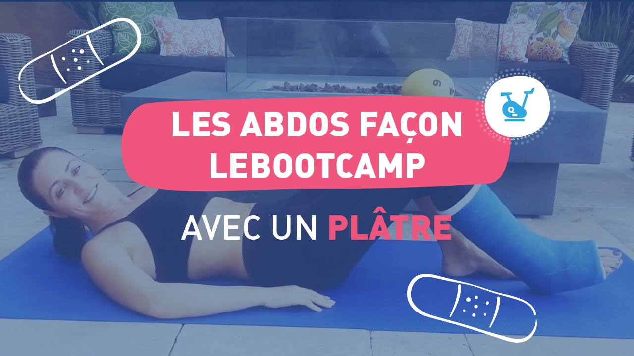 fr faire du sport avec un pied dans le pl tre abdos fa on lebootcamp avec val rie orsoni. Black Bedroom Furniture Sets. Home Design Ideas