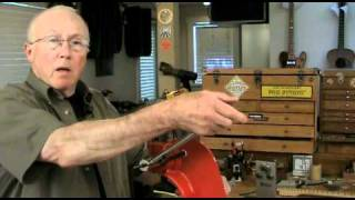 Watch the Trade Secrets Video, Fret press: arbor press for guitar fretting
