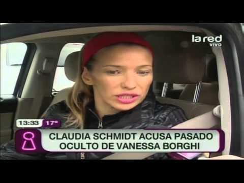 Claudia Schmidt acusa pasado oculto de Vanessa Borghi