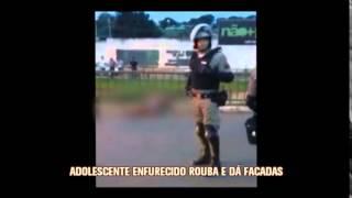 Adolescente rouba ve�culos, esfaqueia cinco motorista e acaba morto em Patos de Minas