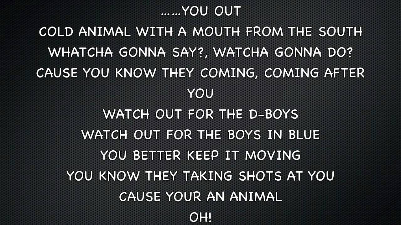 animals lyrics - photo #29
