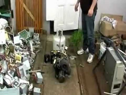 Home made Turbo Charger Gas Turbine Jet Engine