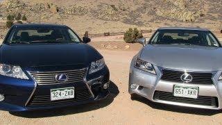 2013 Lexus ES Vs GS 0-60 MPH Mashup Review: What's The