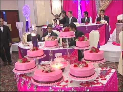 Big Wedding Cake An Indian Wedding Reception At La Suhaag