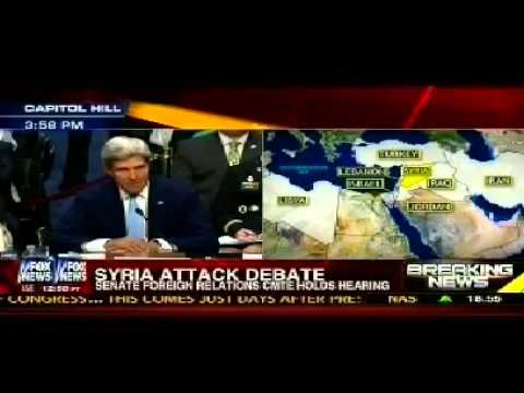 ▶ Senate Syria Debate  John Kerry Warns of World War 3 if Syrian Bashar Assad strikes Israel