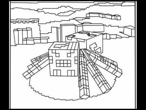 Minecraft Village Coloring Pages Minecraft Village Colo