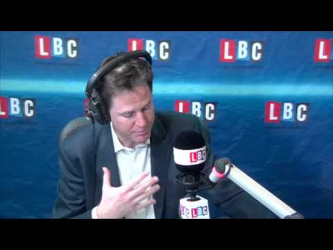 Nick Clegg Challenges Nigel Farage To In/Out EU Debate On LBC