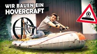 Wir bauen ein HOVERCRAFT aus unserem Schlauchboot!   DIY LUFTKISSENBOOT #1