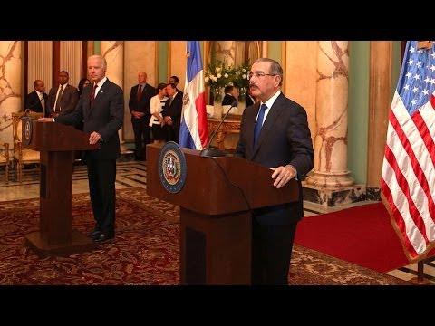 Presidente Danilo Medina recibe a Joseph Biden, vicepresidente de los EEUU.