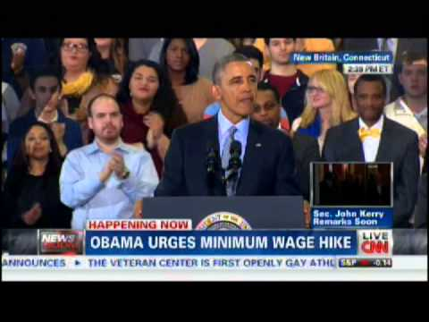 President Obama's Remarks on the Minimum Wage at Central CT University - 3/5/2014