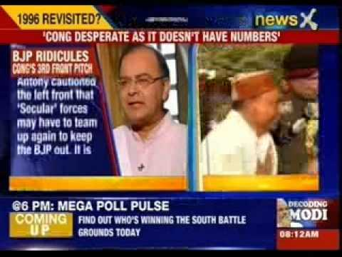 Arun Jaitley ridicules Congress's third front pitch
