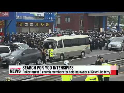6,000 police raid religious compound to find aides of Sewol-ho ferry owner