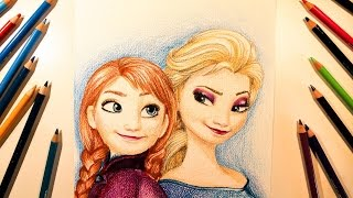 // Drawing \\ Frozen (2013) Elsa And Anna