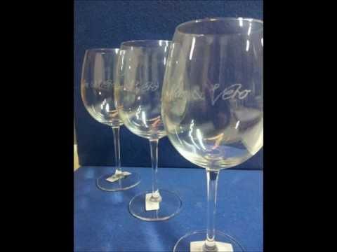 Grabado Laser Copas Cristal ( engrabed crystal objects )