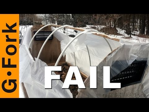Mini Greenhouse Fail! - GardenFork