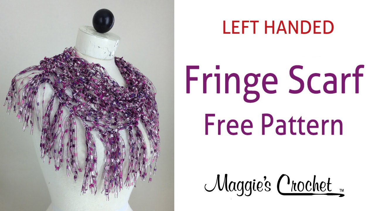 Crochet Patterns Left Handed : ... Scarf Free Crochet Pattern by Maggie Weldon - Left Handed - YouTube
