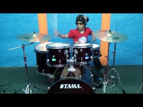 Kid Drummer Amira Syahira Hot N Cold Silverstein Version Age 9 Female