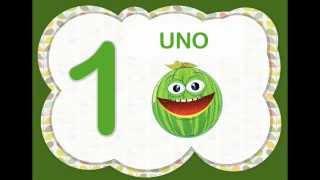 Los Números Del 1 Al 10 Para Niños Con Frutas. (Video